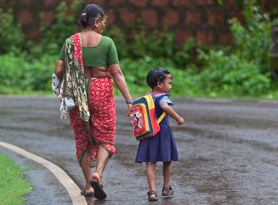 Off to school with grandma