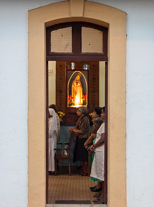 Morning mass, São Tome chapel