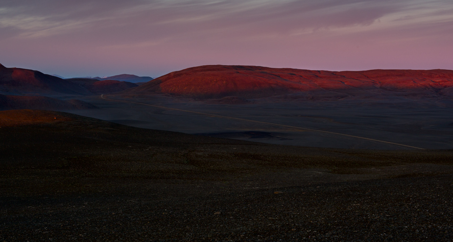 Midnight in the Icelandic Highlands