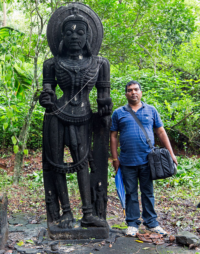 Scale: my assistant and friend Babu Naik