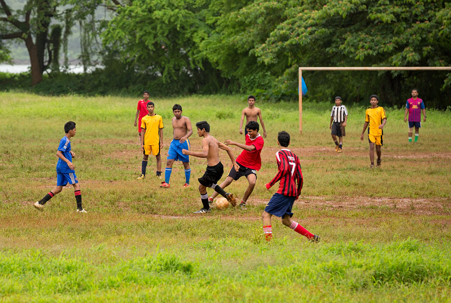 Football practice in Campal, Panjim