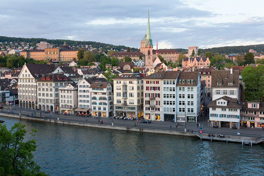 Old Town Zurich seen across Limmat River