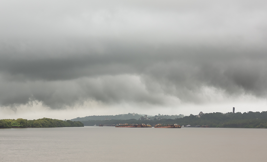 Storm over River Mandovi, Goa