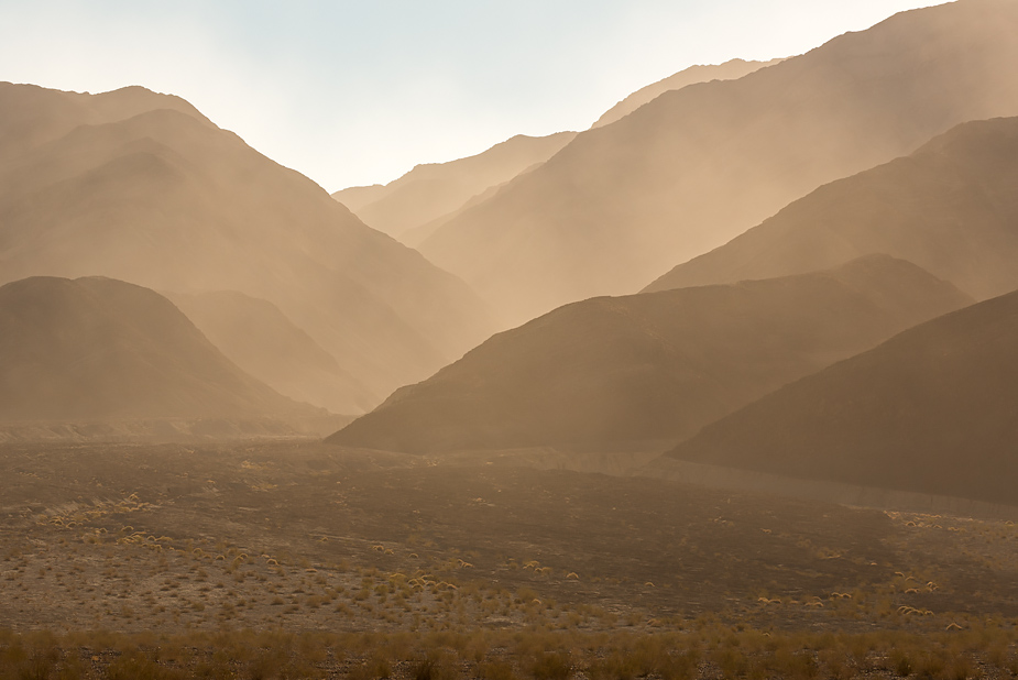 Windstorm in Panamint Range of Death Valley (near Stovepipe Wells)
