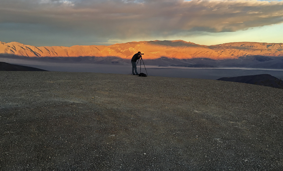 Kristinn Ingi Pétursson at Panamint Valley, California