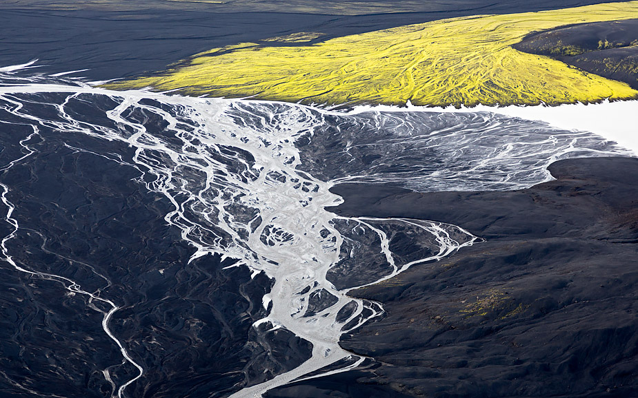 Glacial river, Highlands of Iceland