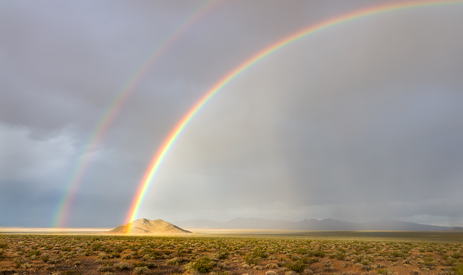 Rainbow in Amargosa Valley, Nevada