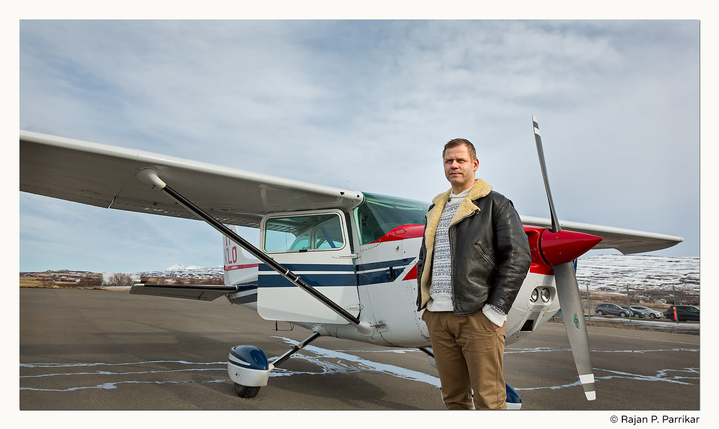 Tómas Kárason, our pilot with Cessna 172, Iceland