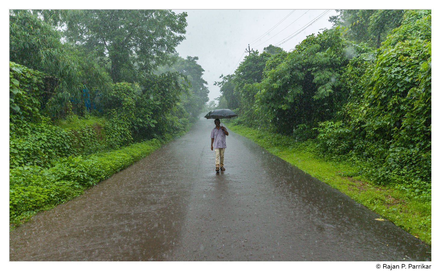 Heavy rain in Savoi-Verem, Goa