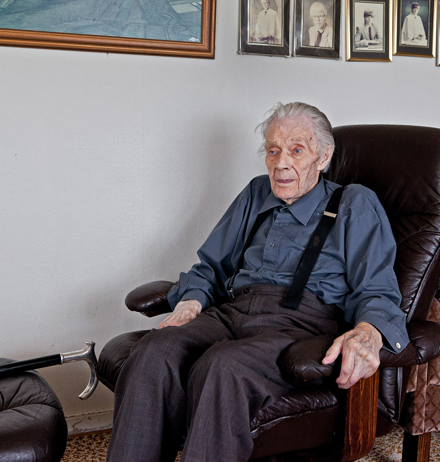 Ólafur Pétursson at his home in Giljur, south Iceland