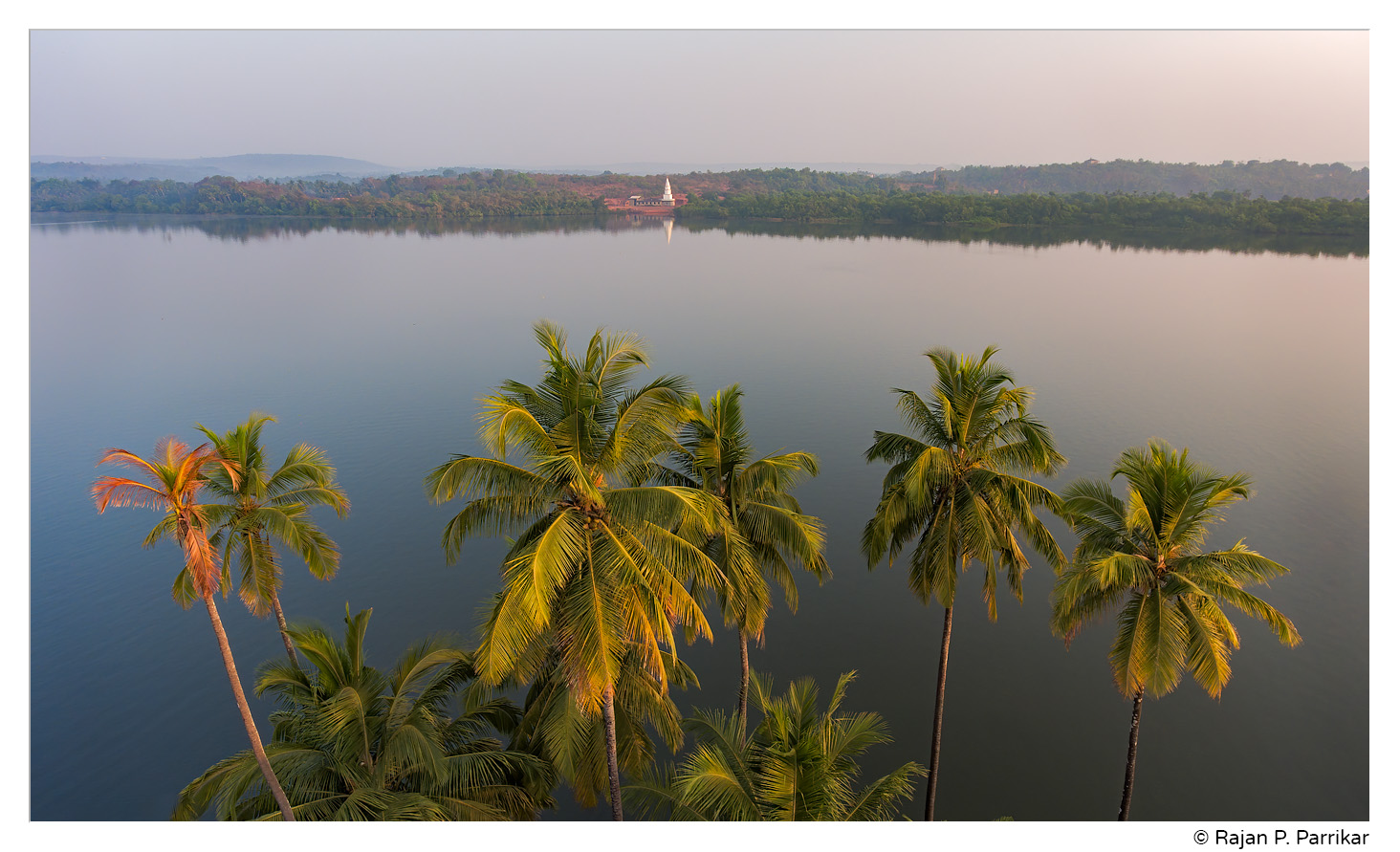 Sateri Temple in Dhargal seen from Colvale, Goa