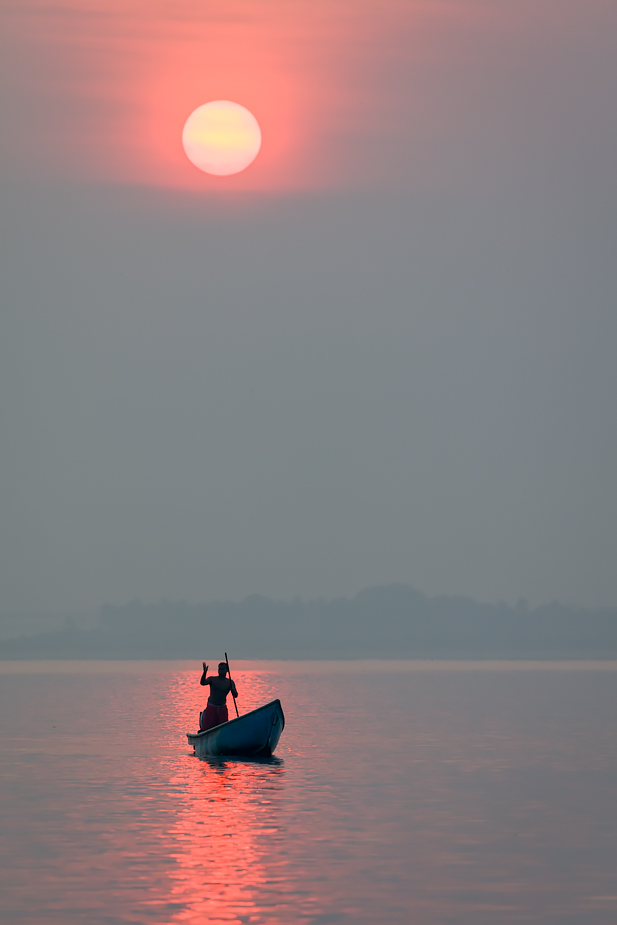 Sunrise in Siridona, Goa