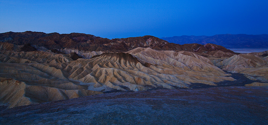 View from Zabriskie Point at dawn