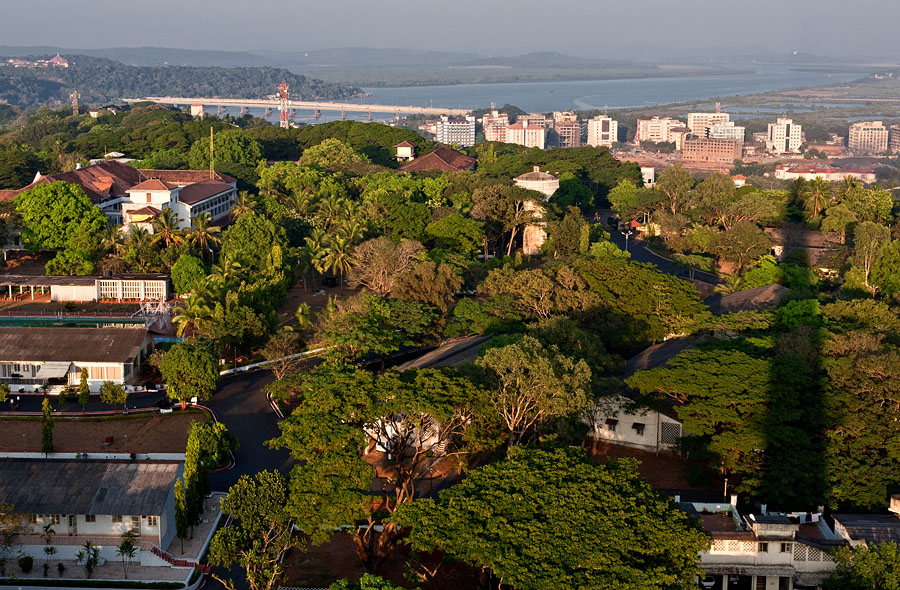 A bird's eye view of Panjim
