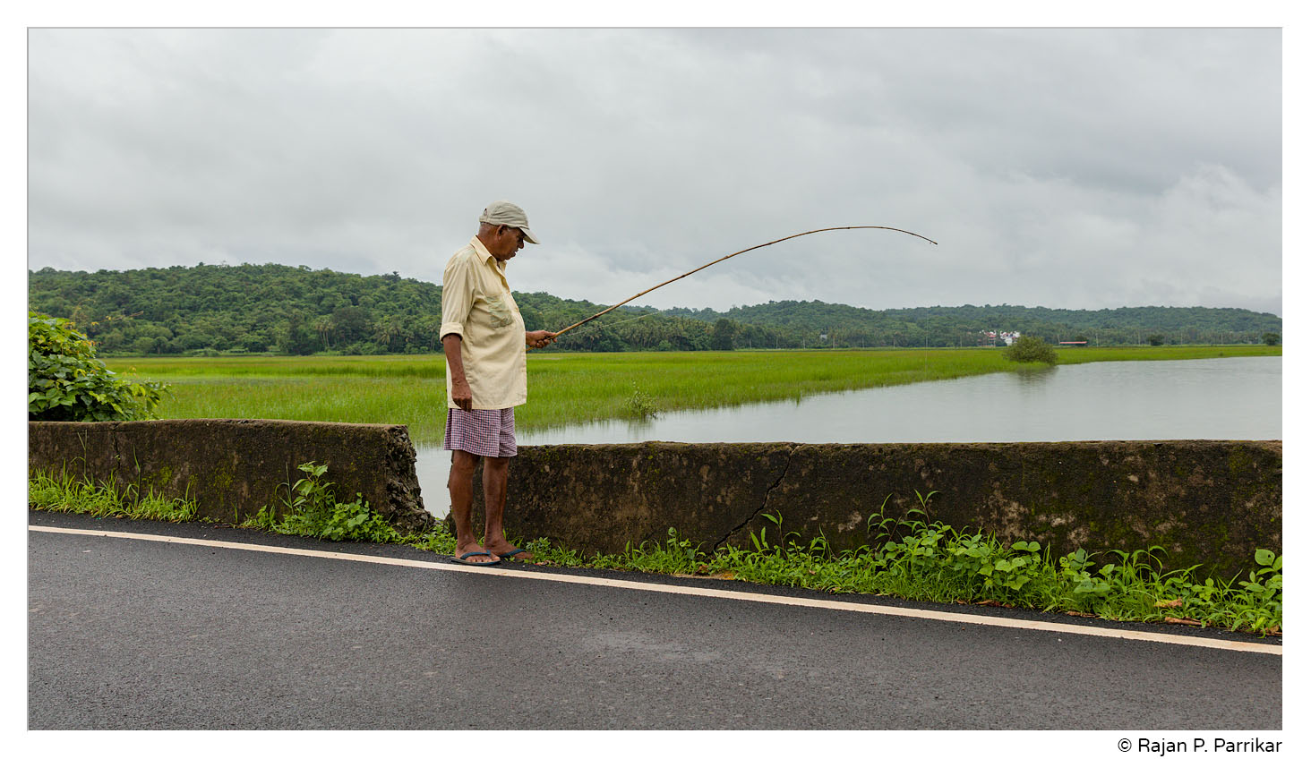 Chandramohan Naik, fishing in Paithona, Goa