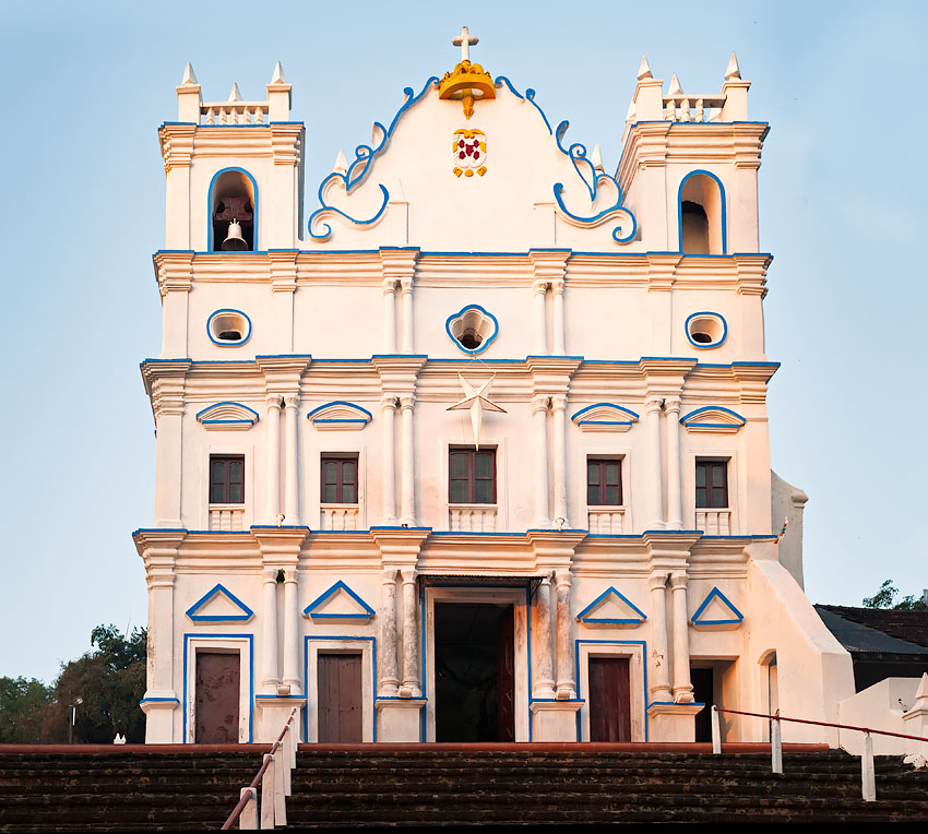 Reis Magos church at sunrise, Goa