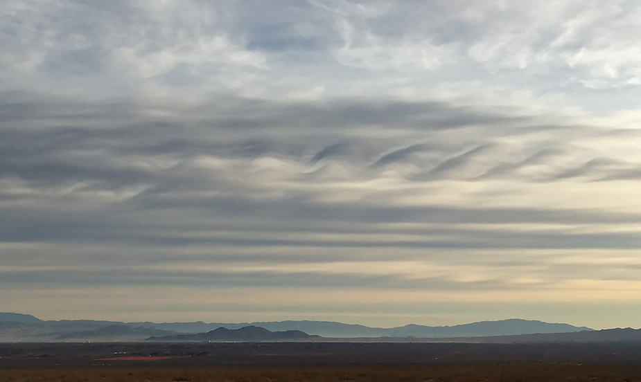 Kelvin-Helmholtz clouds over Ridgecrest, California