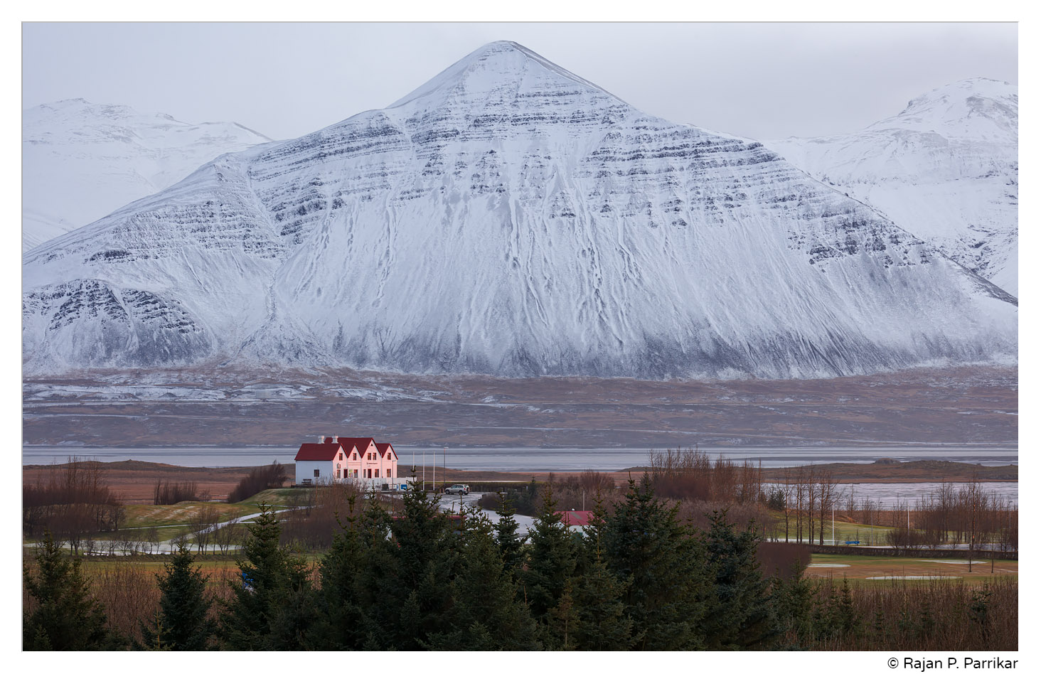 Golf Club House in Borgarnes and Hafnarfjall, Iceland