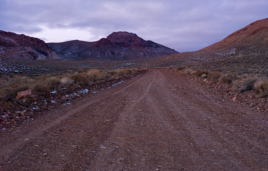 Daybreak on Titus Canyon Road