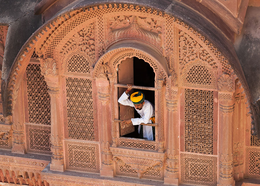 At Mehrangarh fort, Jodhpur, Rajasthan