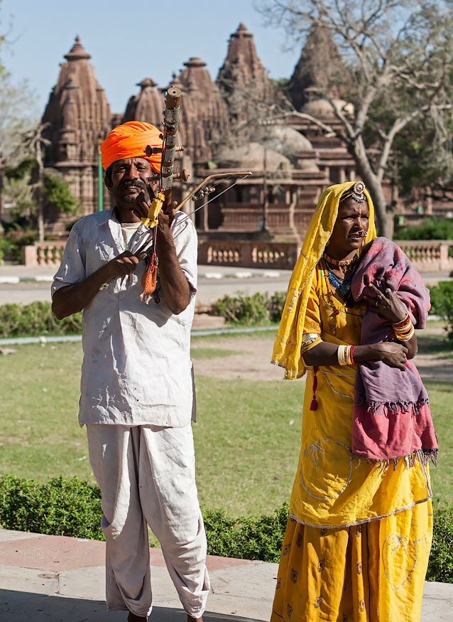 Bhopa and Bhopi in Mandore, Rajasthan