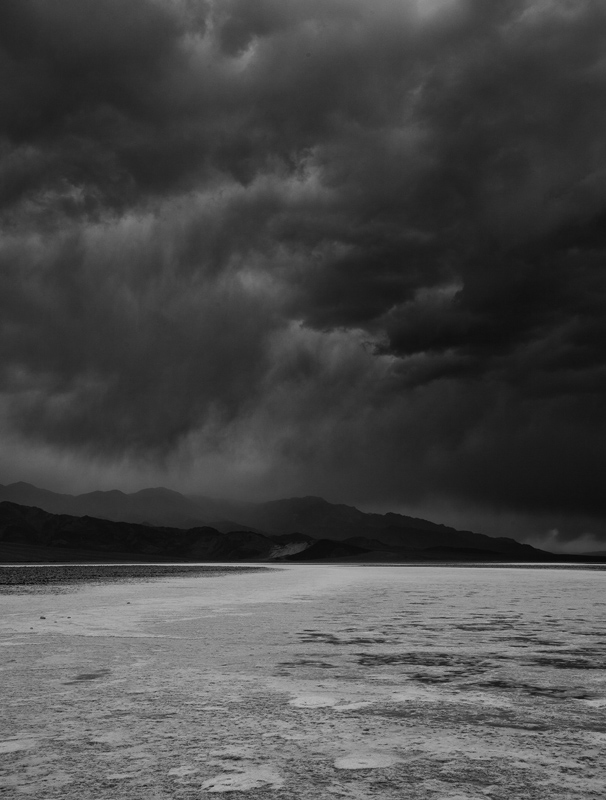 Storm brewing over Badwater basin in Death Valley