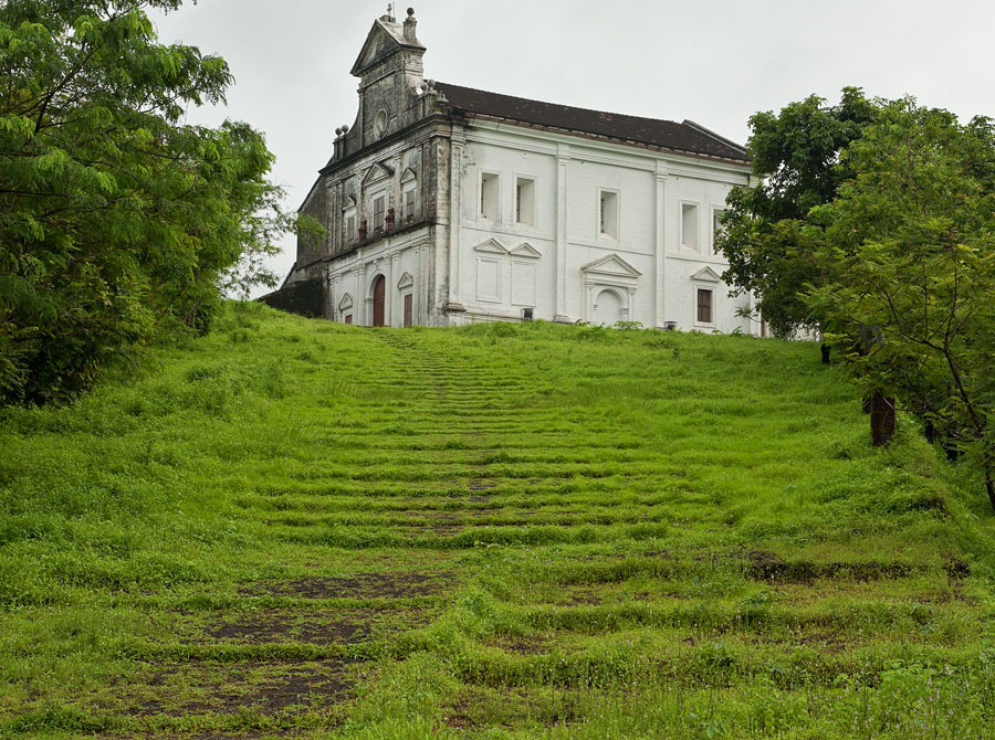 Chapel of Our Lady of the Mount in the monsoon
