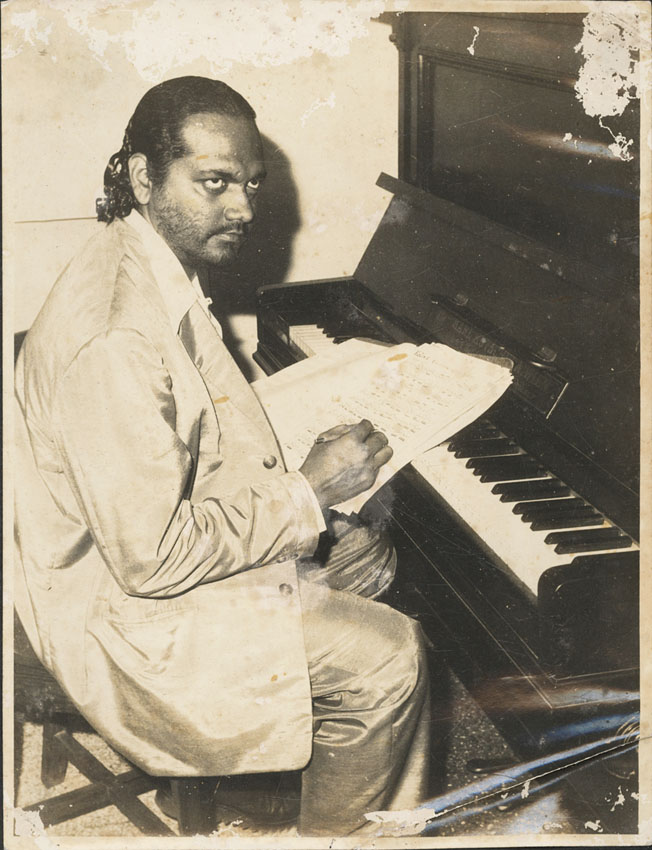 The maestro in his flat in Bandra in 1961