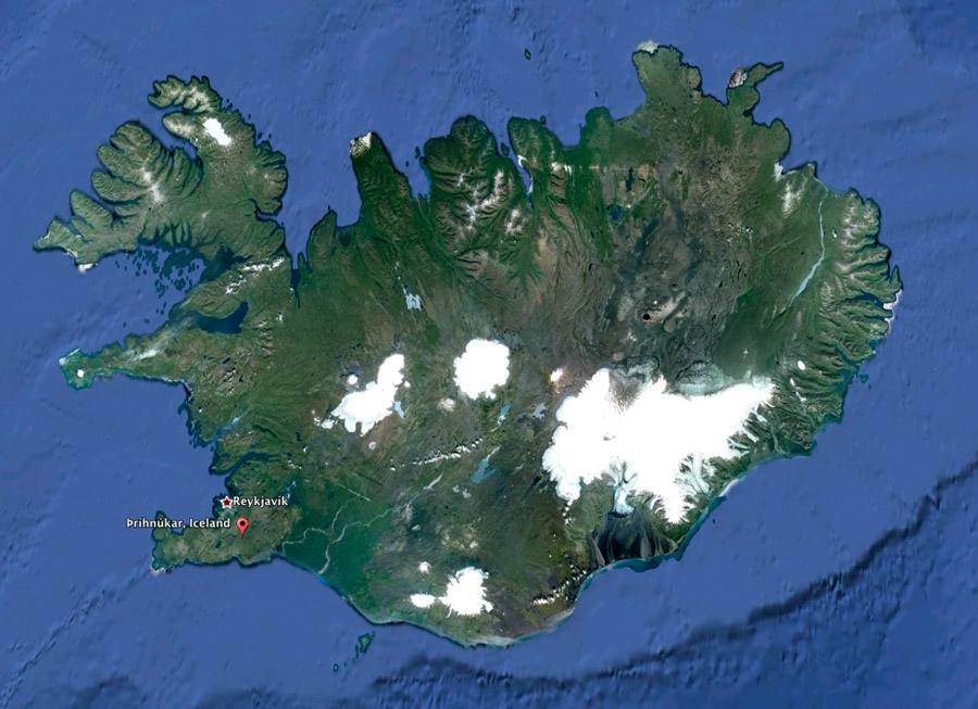 Location of the volcano