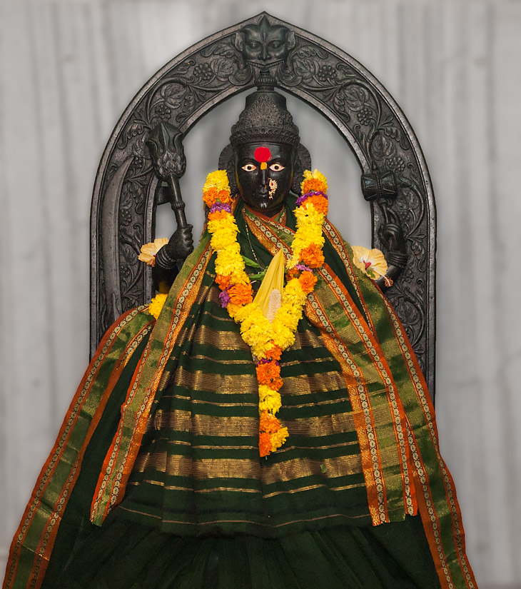 Morjai devi at the temple in Morjim, Goa