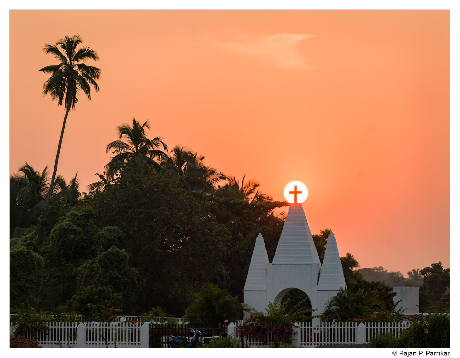 Sunset at Saligao cemetery, Goa