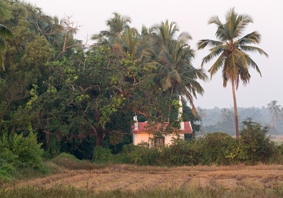 Chapel in Saligao, Goa, first light