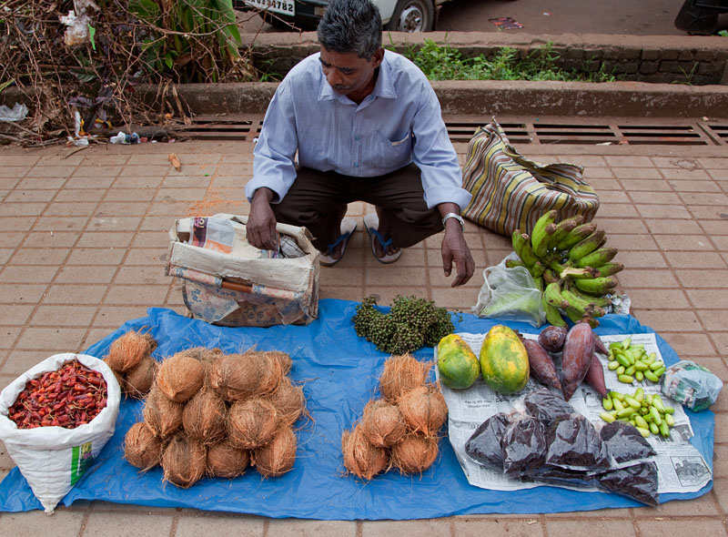 Fresh produce at Panjim market