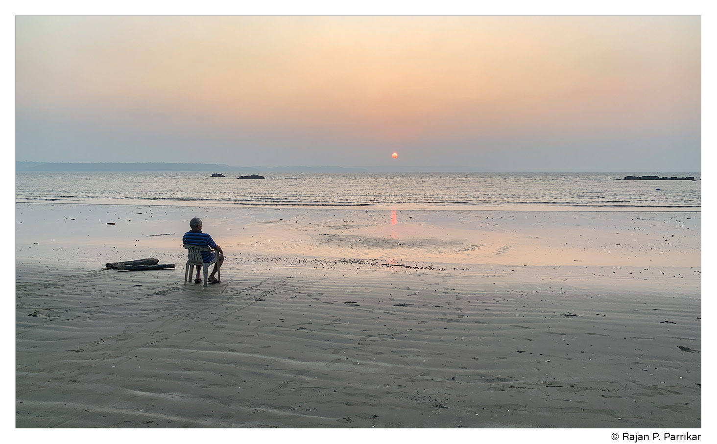 Sunset in Siridona, Goa