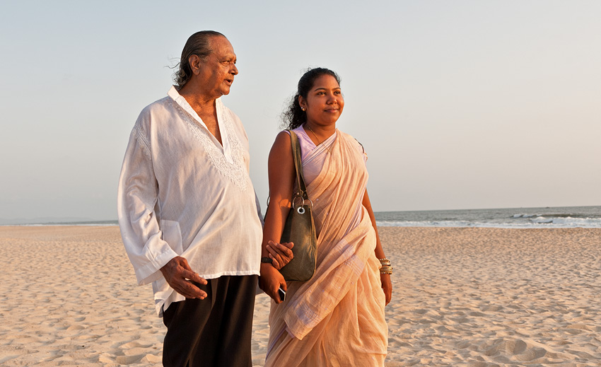 Anthony with daughter Laxmi Gonsalves at Arossim
