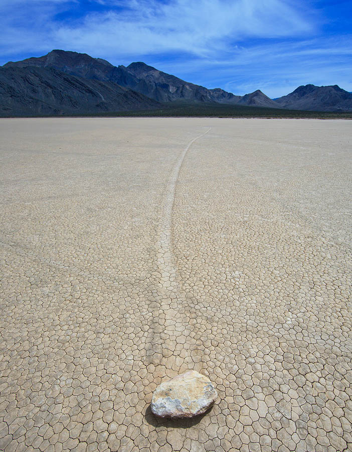 Moving stones at Racetrack Playa