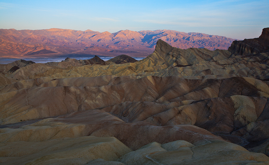 View from Zabriskie Point at sunrise