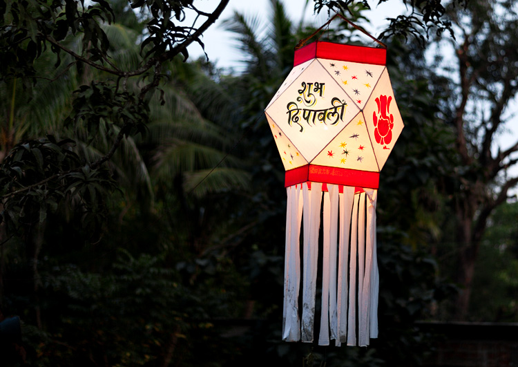 Deepavali lamp in Chorão