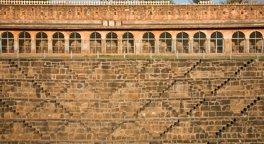 Section of the Chand Baori in the mellow evening light<br>5D, 24-105L