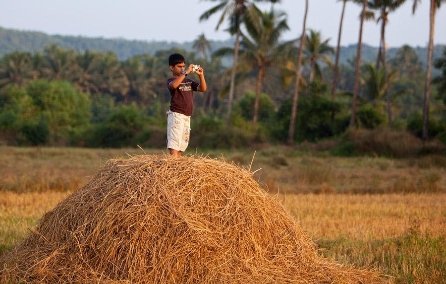 Yash in the field in Saligao