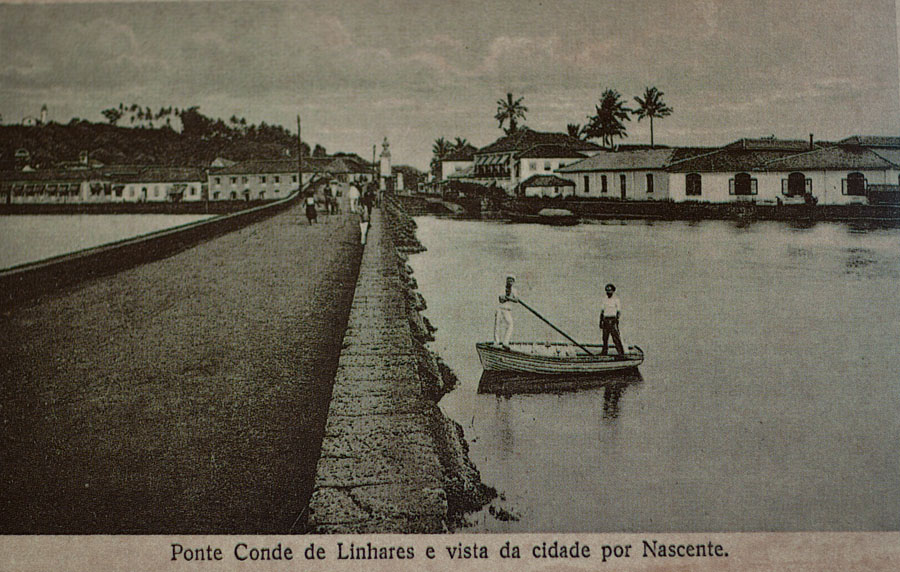 Ponte de Linhares - entrance to Panjim c.1900