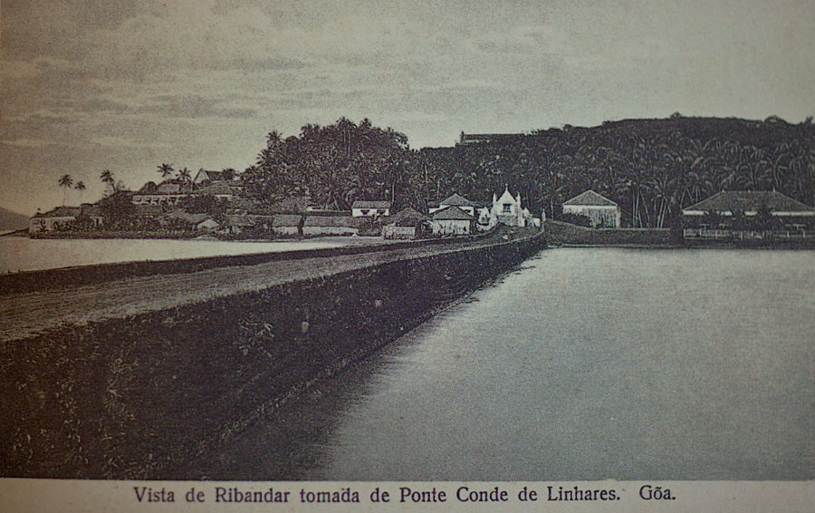Ponte de Linhares - looking towards Ribandar c.1900