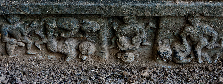 Erotic depictions on the temple base