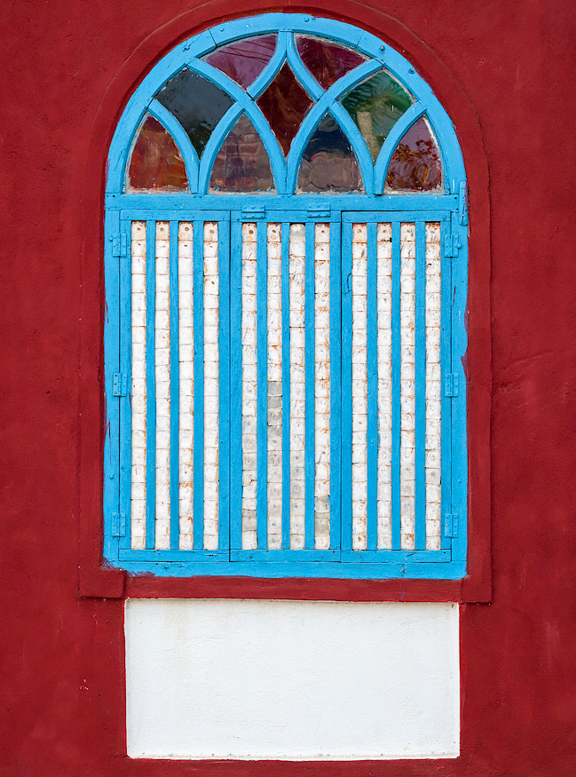 Nacre window in Saligao, Goa