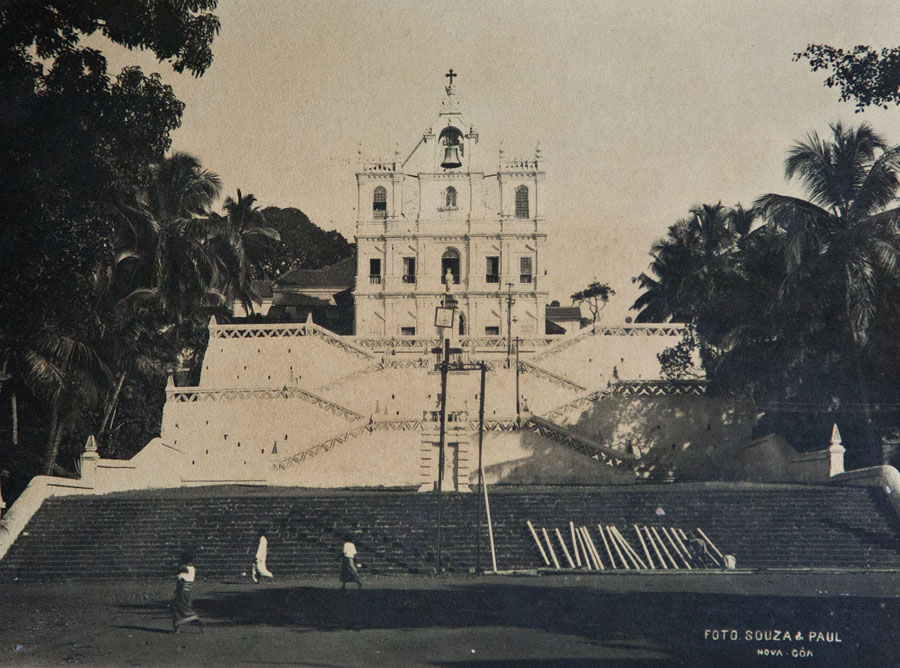 Panjim Church c. 1900, © Souza & Paul, Central Library Archives