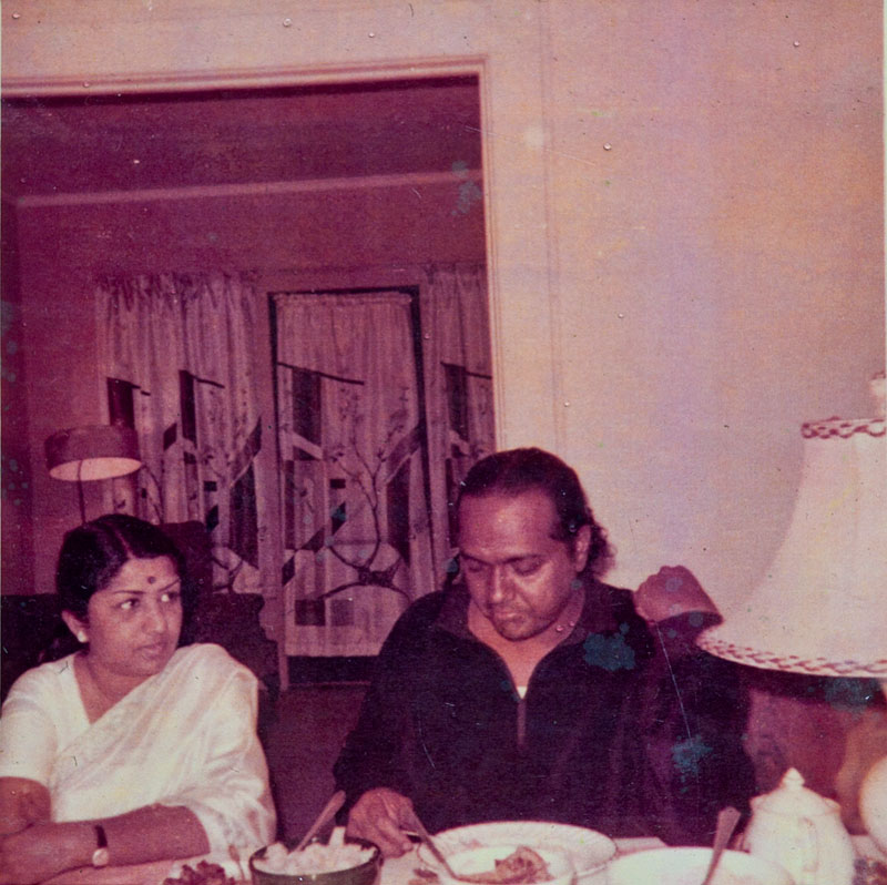 Lata Mangeshkar at Anthony's home in Syracuse, New York (1967)