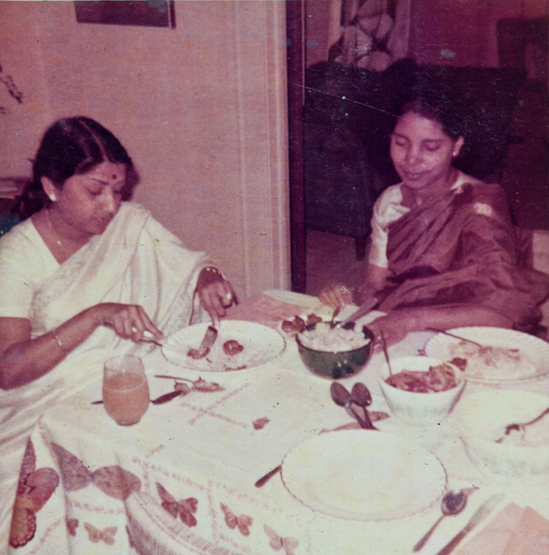 Lata Mangeshkar with Melita Gonsalves in Syracuse (1967)