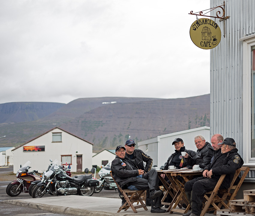Icelandic bikers in Þingeyri