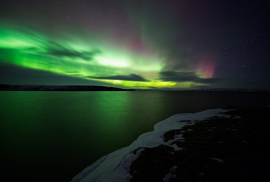Northern Lights over Þórisvatn, Iceland