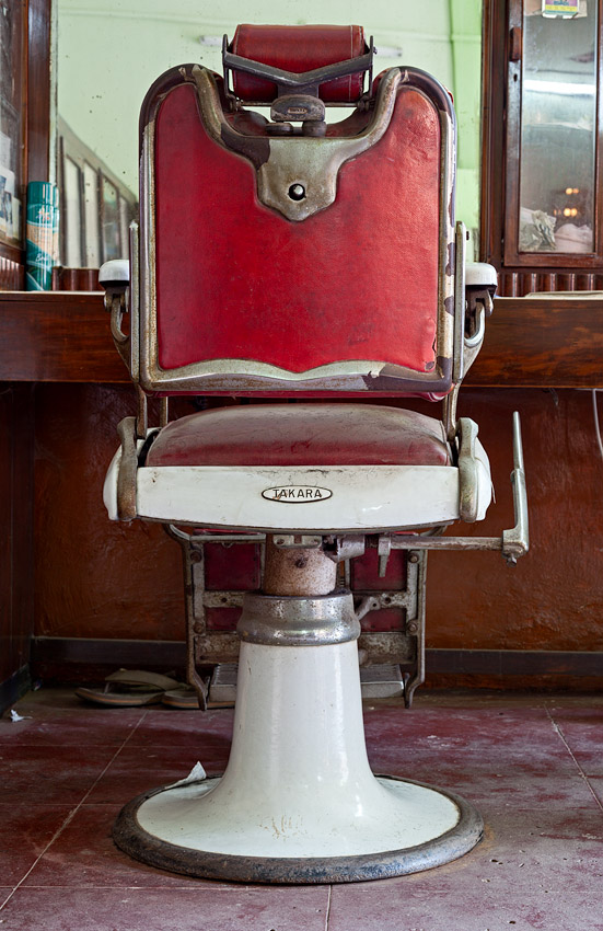 Barber's chair made by Takara of Japan